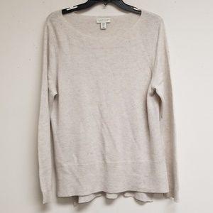 Adrienne Vittadini Gray Cashmere Sweater Size XL